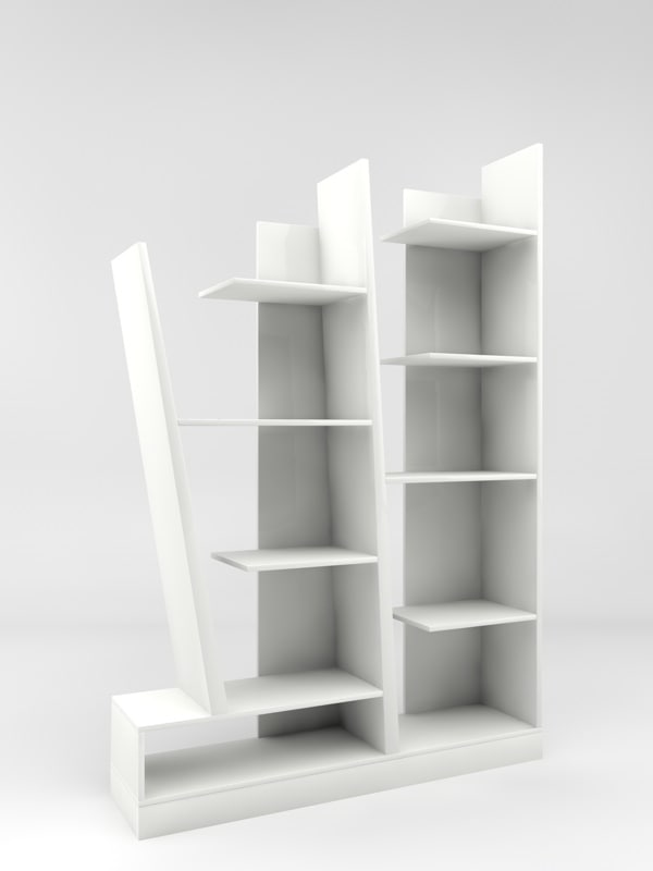 3ds max modern bookcase display