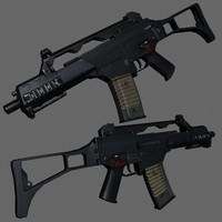 3d g36c games clips model