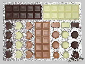 chocolates milk white 3d max