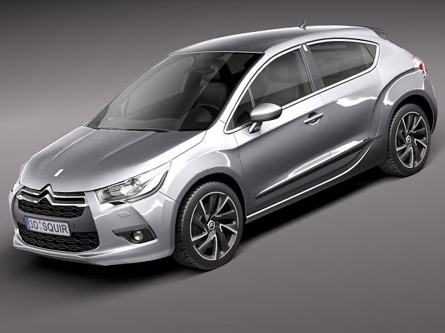 3d model of citroen ds4 2012 ds