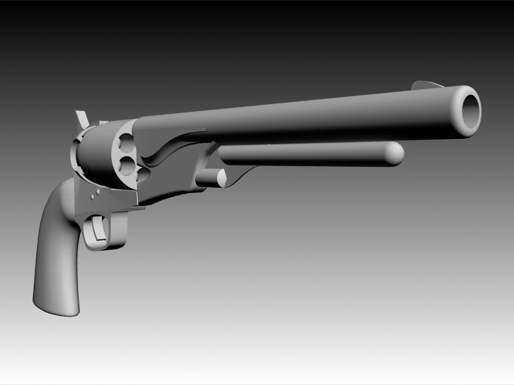 3d colt army revolver