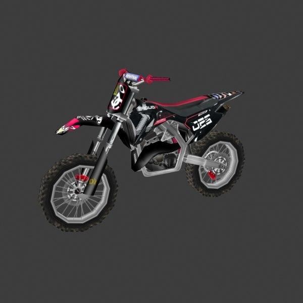 3ds max dirt bike