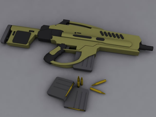 3d model of rifle