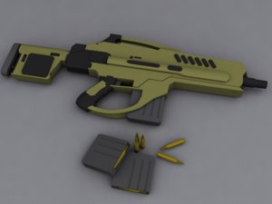 3d model of rifle