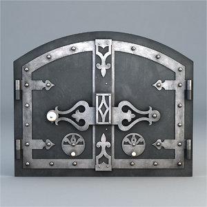 3d furnace door