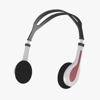 3d model headphones head