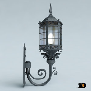 3ds max old lamppost street