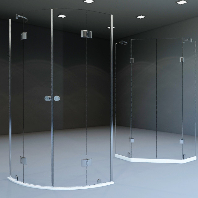 shower boxes 3d model