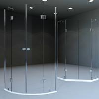 shower boxes 3d model