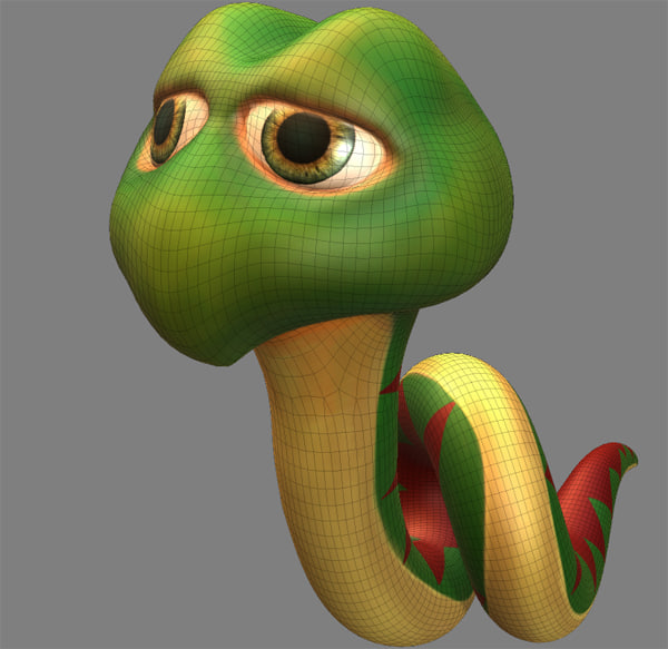 3ds snake cartoon