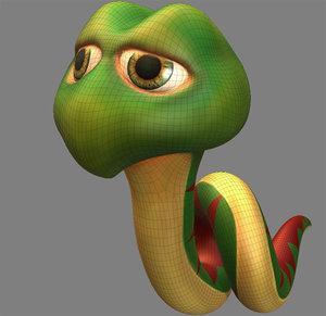 3ds snake cartoon