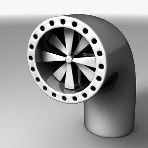 vent pipe propeller 3d model