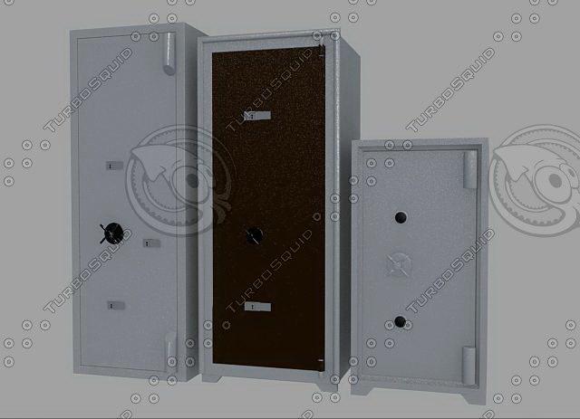 trezors seifs 01 3d model