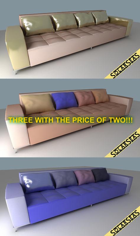 3d model modern sofas