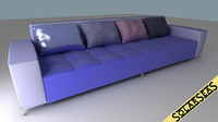 Modern Sofa Blue Colors
