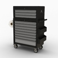 Tools trolley with top box