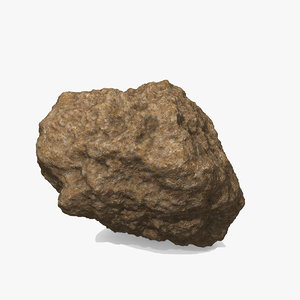3d asteroid rock