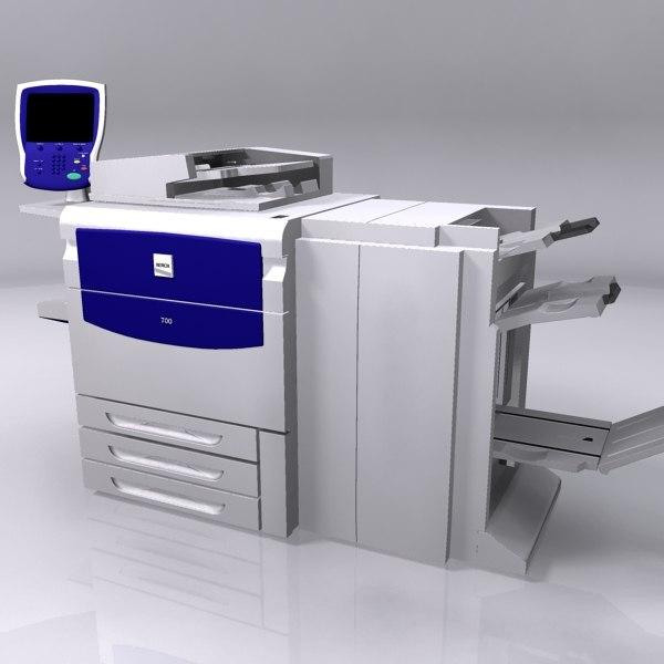 xerox 700 printer 3d x