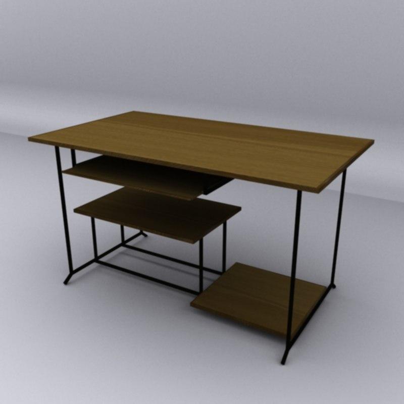 dt computer desk 3d max