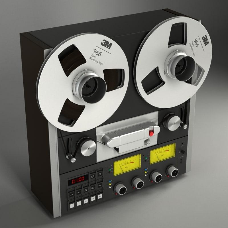 3d model tape recorder