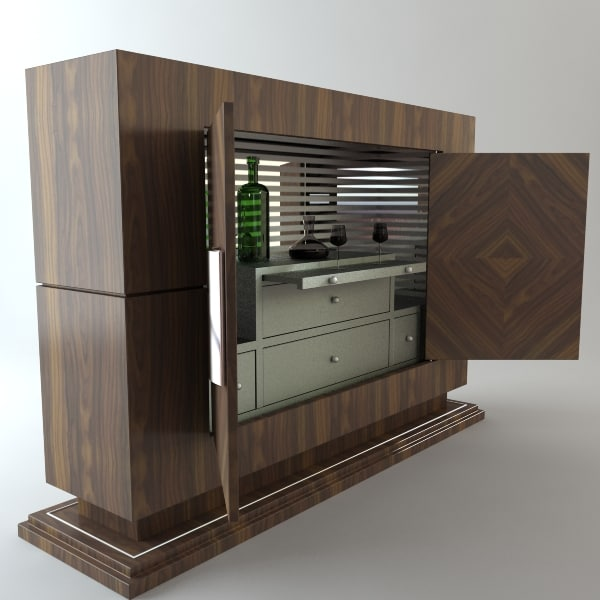 wine bar 3d model