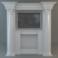 Classical Style Wall with Flatscreen TV