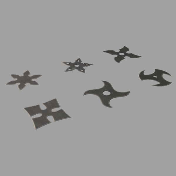 throwing stars 3d ma