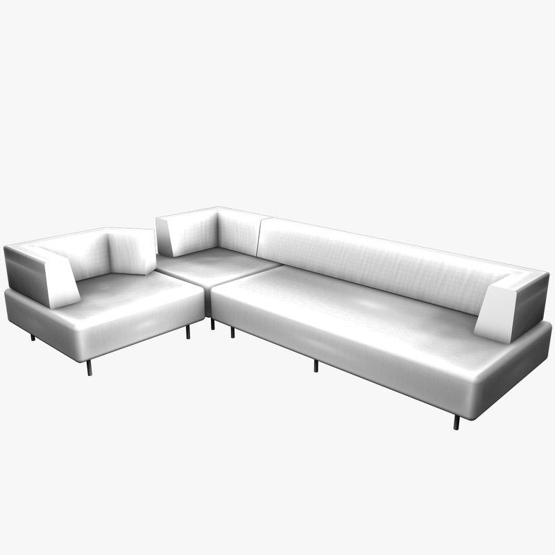 3ds max edra sofa