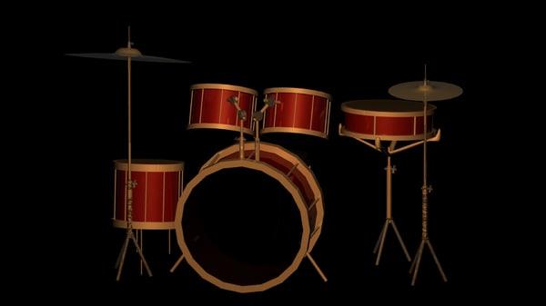 3d model drums