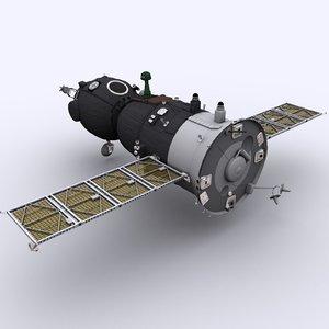 3ds max spaceship soyuz tma