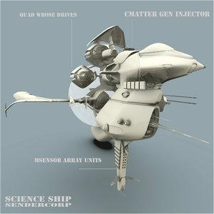 blender science spaceship