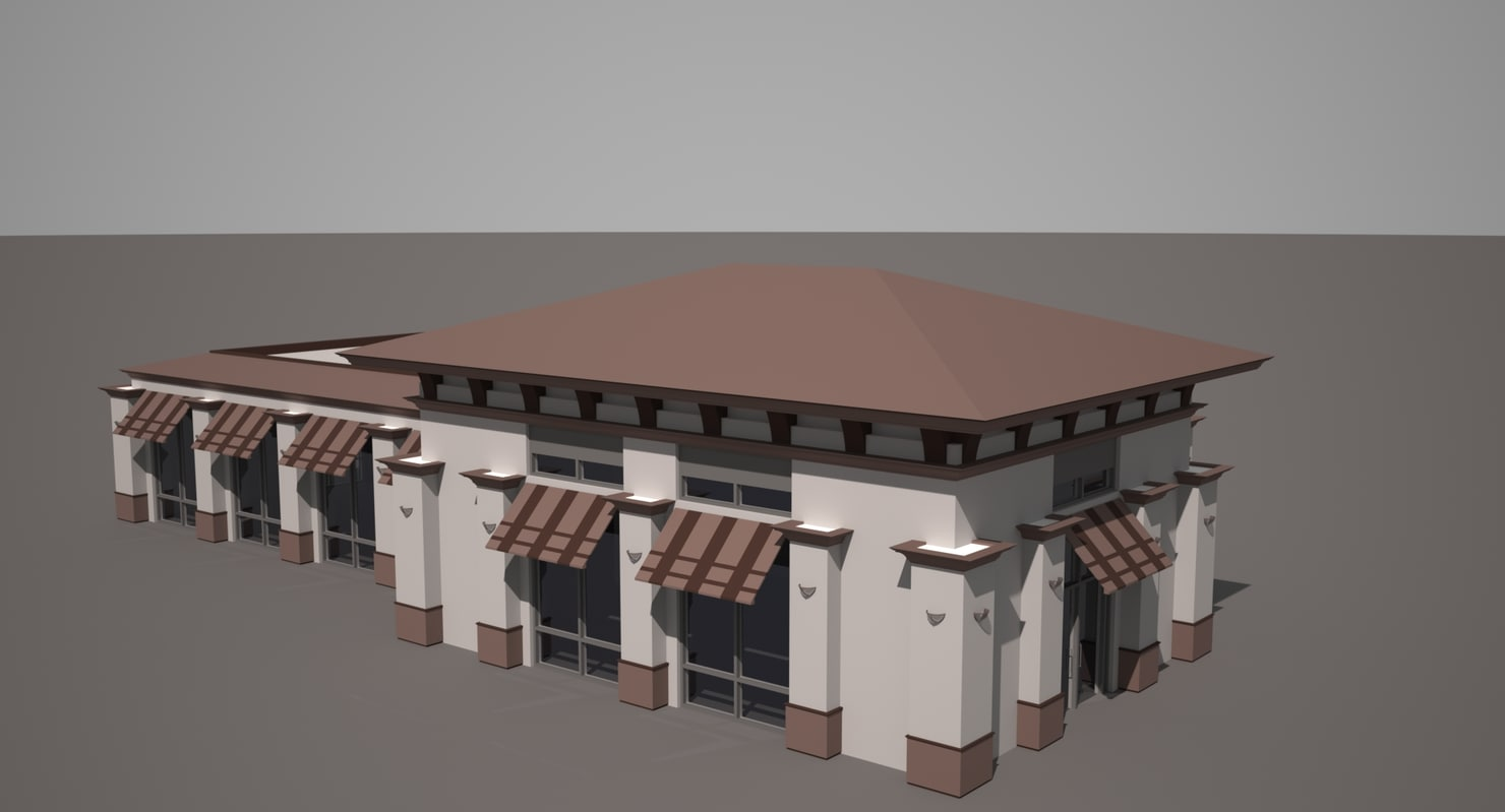 3ds max end restaurant store