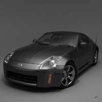 obj highpoly nissan 350z car interiors