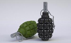 3d grenades f1 model