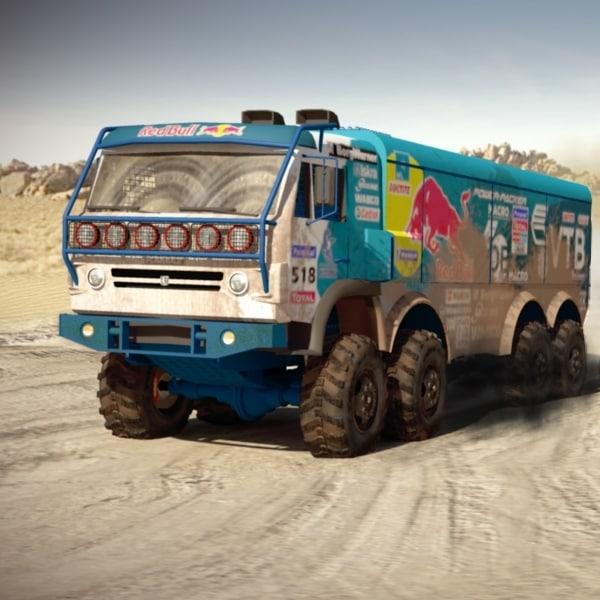 kamaz rally 3d model