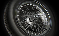 Spoked Wheel Rim Tire
