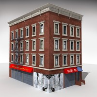 harlem building 3d model