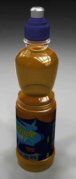 3d bottle lucozade