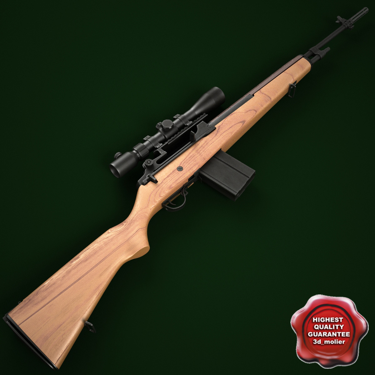 3ds max m14 rifle optical scope