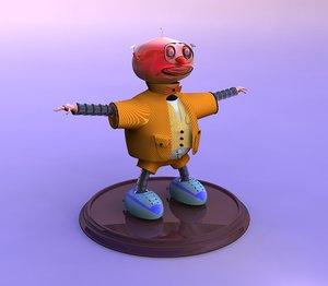 3d model mistik funny robot