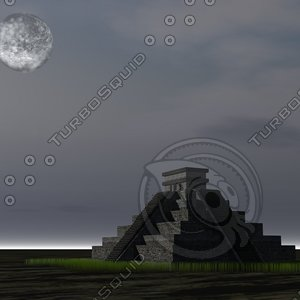 3d mayan pyramid