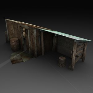 old wood 3d obj