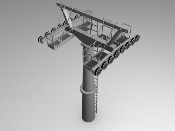cableway cable way 3d model