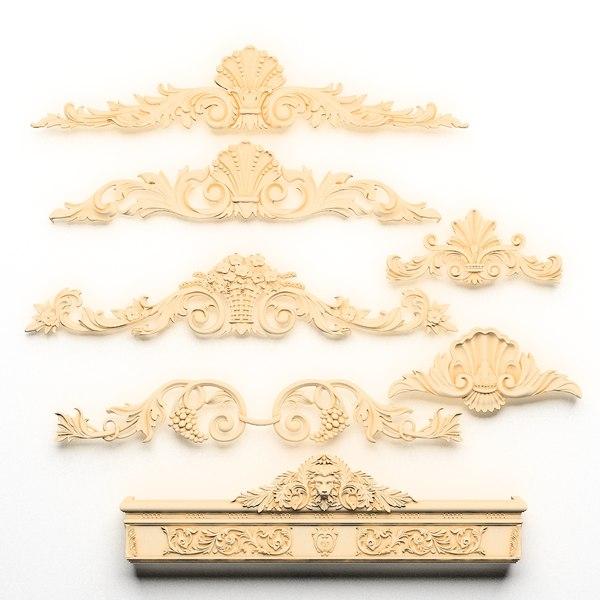 3dsmax classical decoration ornamental
