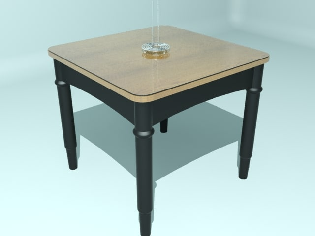 square table glass 3d model