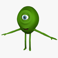 3d model green monster