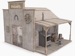 western blacksmith 3d max