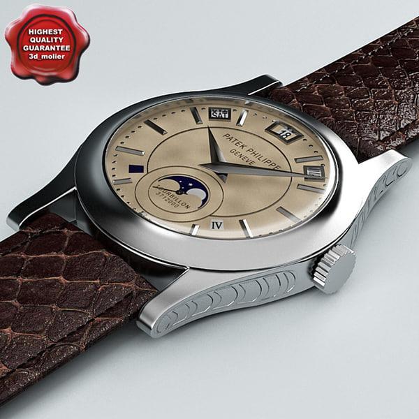 3d model wrist watch patek philippe