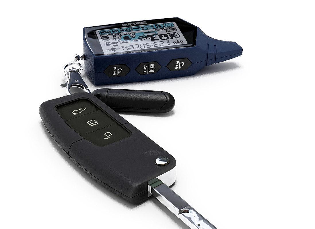 3d model car key focus 2