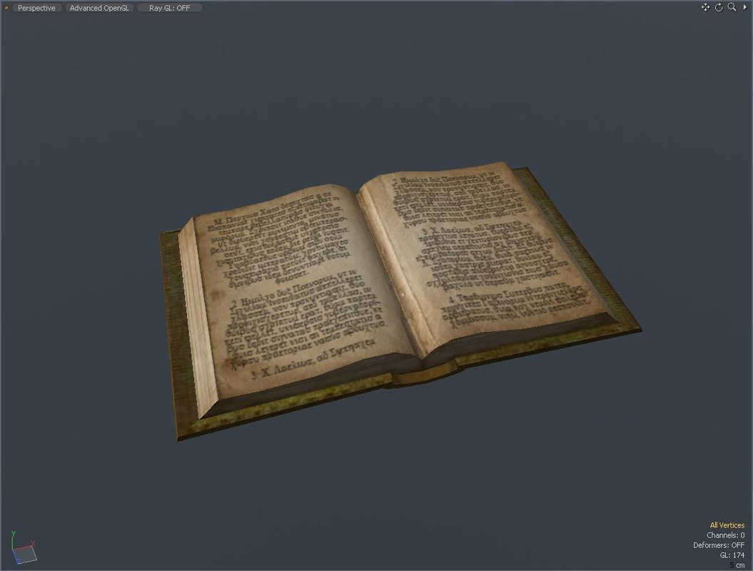 old book 3d 3ds